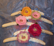 Satin Padded Clothes Hangers with Blooms